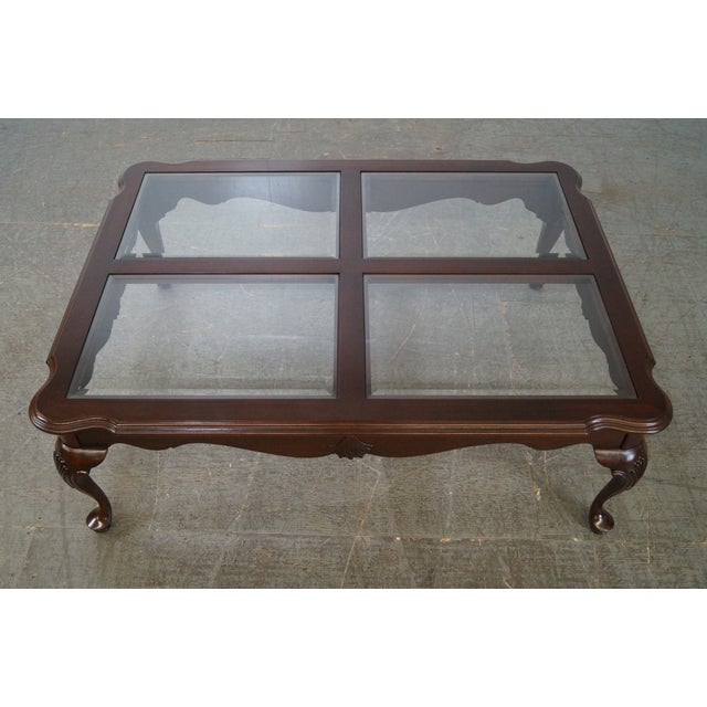 Cherry Wood Ethan Allen Georgian Court Coffee Table For Sale - Image 7 of 10