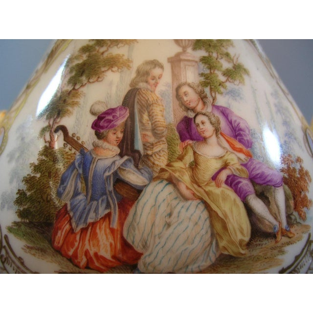 Ceramic 18th Century Meissen Porcelain Pitcher Mounted as Lamp For Sale - Image 7 of 13