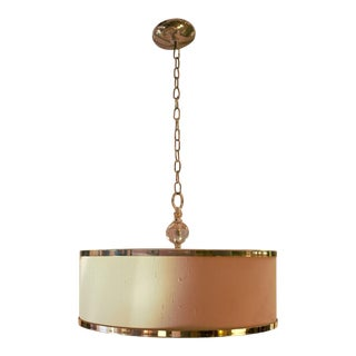 Uttermost Cascading Crystal Pendant Drum Light For Sale