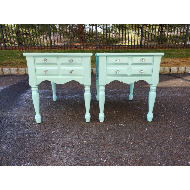 1950s 1950s Boho Chic Mersman Solid Wood Bedside Tables - a Pair For Sale - Image 5 of 12