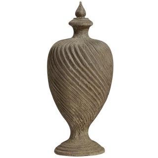 Architectural Carved Elm Wood Urn