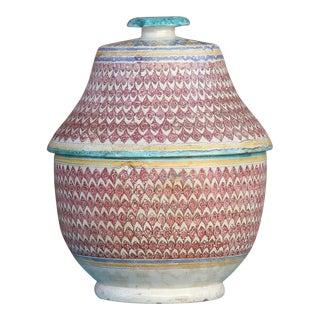 Antique Fez Moroccan Large Jar For Sale