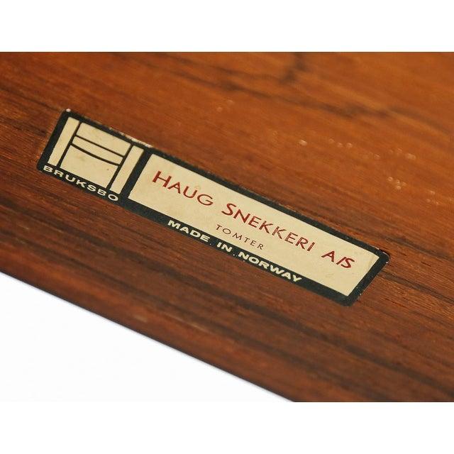 Slim Rosewood Credenza by Haug Snekkeri For Sale - Image 10 of 11