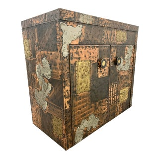 1970's Paul Evans Studio Patchwork Bar Cabinet for Directional For Sale