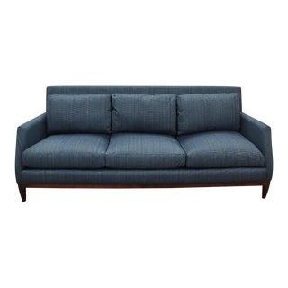 Mid Century Modern Style Robert Allen Navy Sofa For Sale