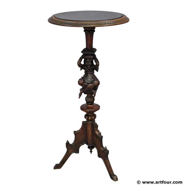 A Great Antique Gueridon With Carved Jester on the Base For Sale - Image 11 of 11