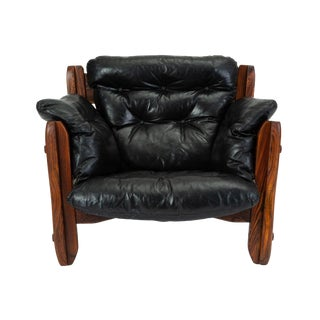 Descanso Lounge Chair by Don Shoemaker for Señal in Cueramo and Leather For Sale