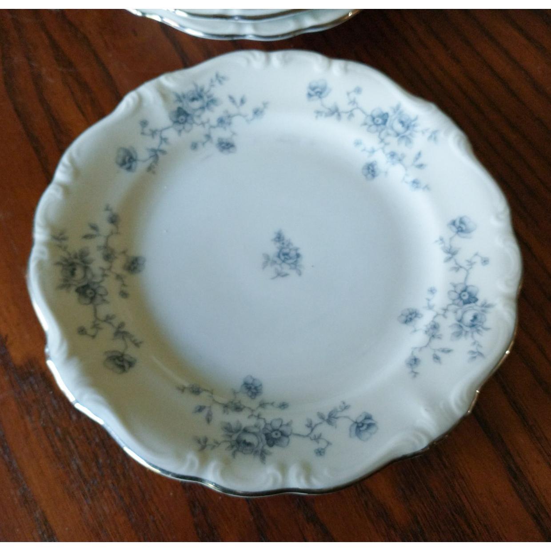 Johann Haviland Bavaria Germany Blue Garland Bread and Butter Plates Set of 4