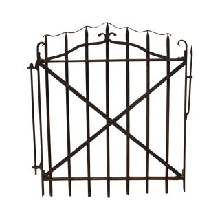 Antique 19th Century Hand Forged Wrought Iron Courtyard Garden Entrance Gate (A) For Sale