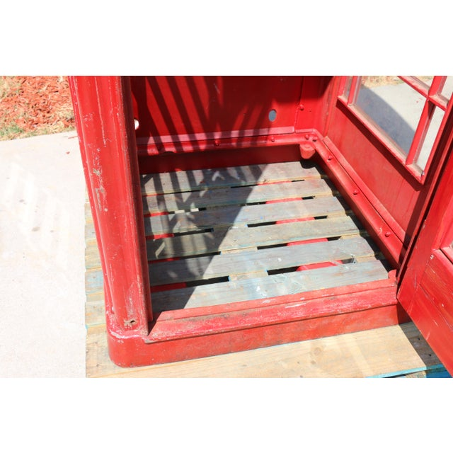 Metal Vintage London Lifesize Telephone Booth For Sale - Image 9 of 13