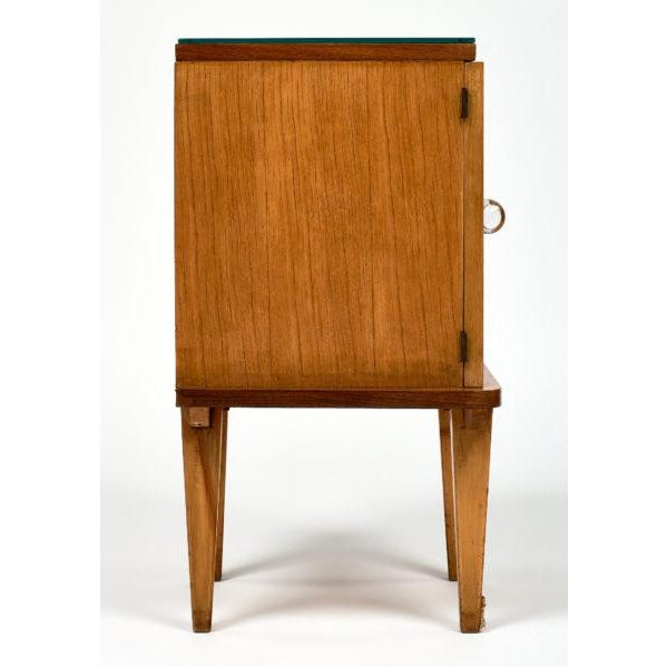 Brown French Mid-Century Modern Side Tables - a pair For Sale - Image 8 of 10