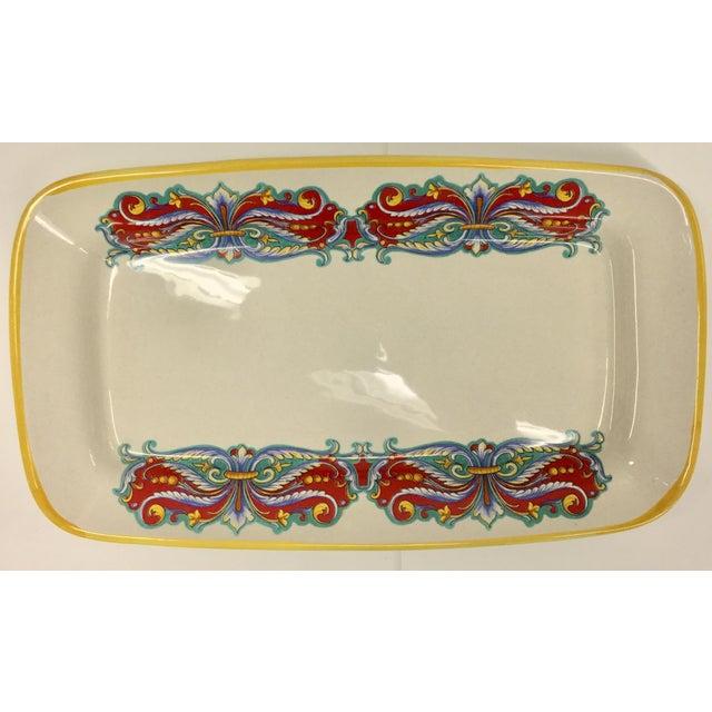 Vintage Italian Ceramica Nova Deruta Hand Painted Platter For Sale - Image 10 of 10