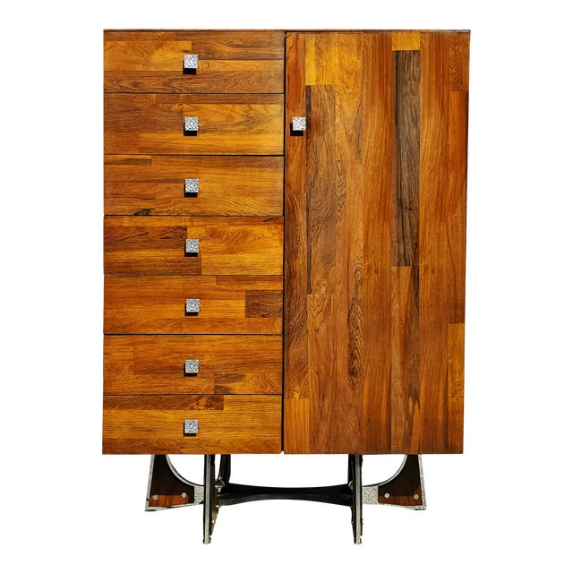 A Mid-Century Modern - Brutalist - Space Age - Wardrobe - Armoire by Henri Valliere For Sale