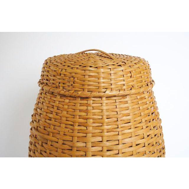 Large Rattan Standing Basket - Image 4 of 5