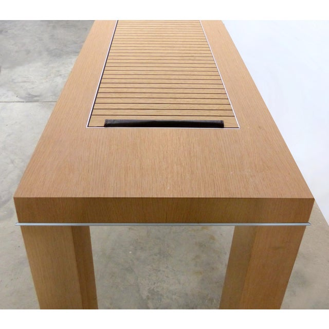 Abstract Mobilidea Console With Rolling Tambour Blind on Top, Italy For Sale - Image 3 of 11