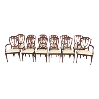 Henkel Harris Dining Chairs Set of Twelve For Sale