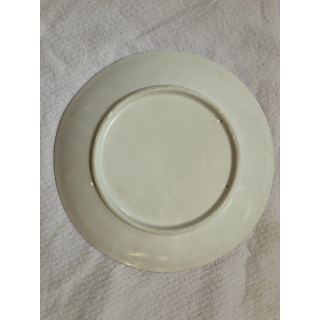French French Pink and White Oyster Plate For Sale - Image 3 of 5