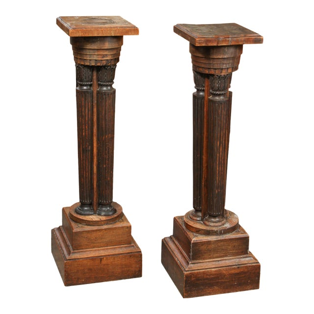 Late 19th Century French Classical Pedestal Stand Plinths - a Pair For Sale