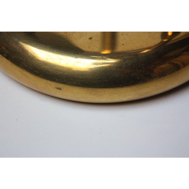 American Modern Brass Three-Fixture Table Lamp For Sale In New York - Image 6 of 9