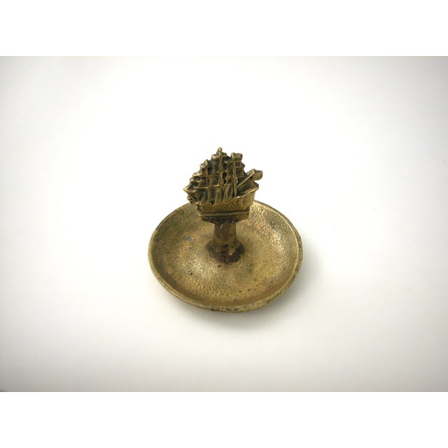Brass Ship Dish For Sale In New York - Image 6 of 9