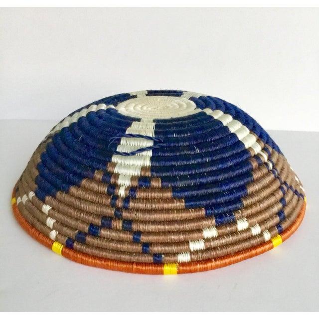African Boho Woven Basket - Image 7 of 8