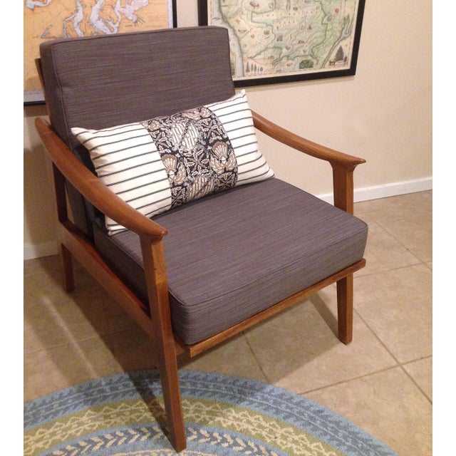 Scandi Java Mid-Century Style Teak Lounge Chair - Image 3 of 6