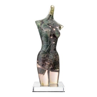 Large Arman Venus With Two Dollar Bills Sculpture For Sale