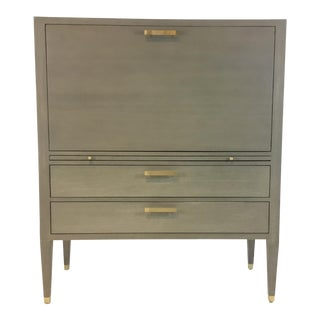 Ave Home Modern Gray Carlyle Secretary Desk For Sale