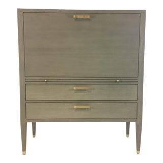 Ave Home Modern Gray Carlyle Secretary Desk For Sale