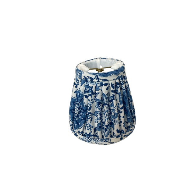 Heath & Company Blue Floral Chandelier Shade For Sale In West Palm - Image 6 of 7