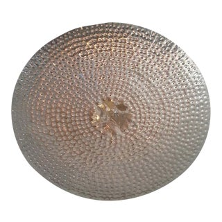 Wall Mount Round Metal Sculpture For Sale