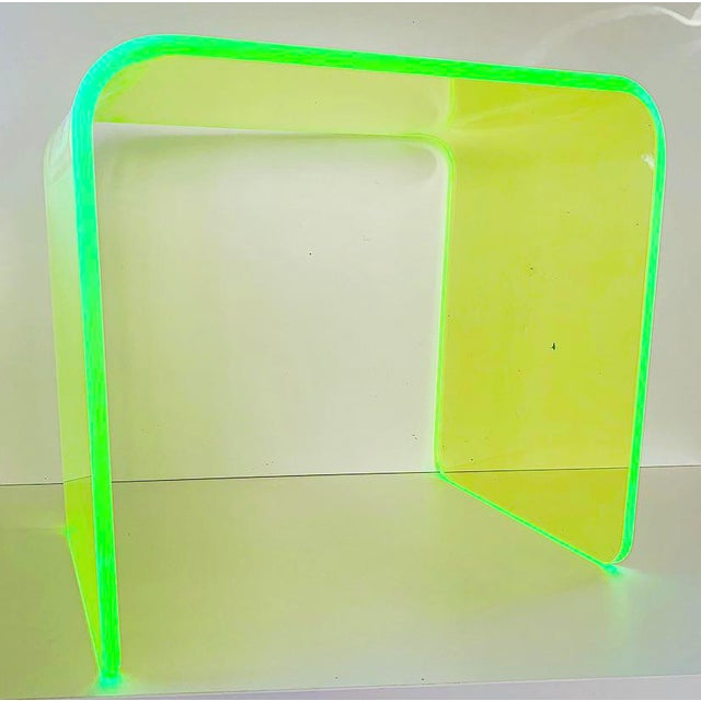 """""""The Side Piece"""" Side Table in Neon Green For Sale In San Francisco - Image 6 of 7"""