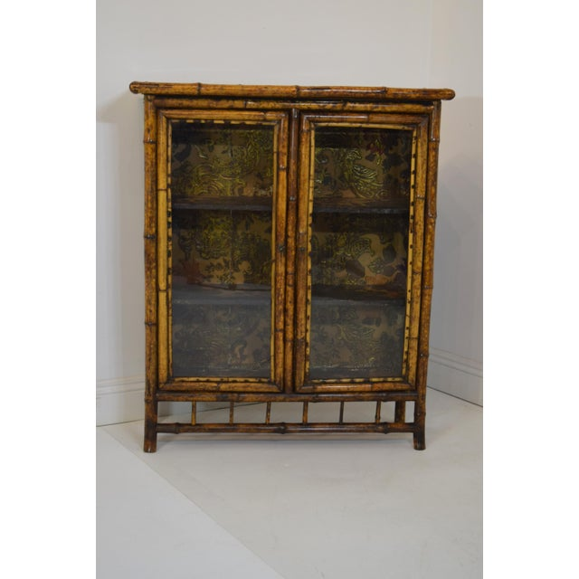 Gold 19th-Century Bamboo/Chinioserie Bookcase For Sale - Image 8 of 8