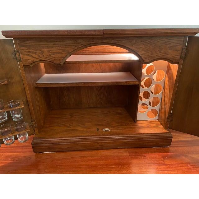 Brown Vintage Brutalist Dry Bar Cabinet For Sale - Image 8 of 12