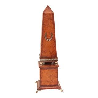 Embossed Leather Obelisk For Sale