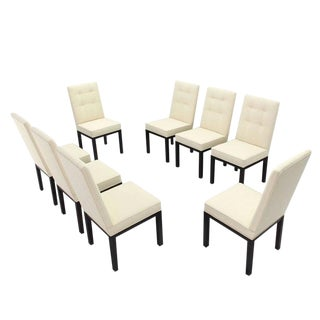 Set of Eight Newly Upholstered Dining Chairs by John Widdicomb For Sale