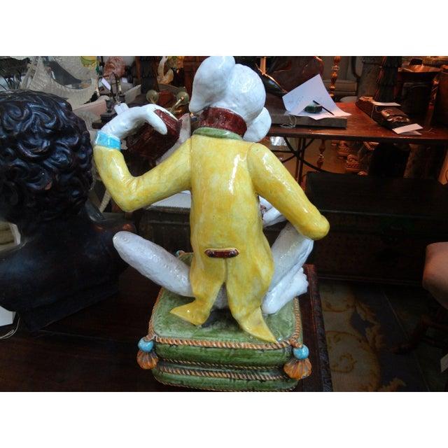Figurative 1970s Vintage Glazed Terra-Cotta Monkey Figure For Sale - Image 3 of 8