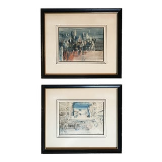 Framed Raoul Dufy Lithographs - A Pair For Sale