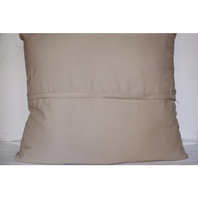 Vintage Needlework Suzani Pillow Cover For Sale - Image 4 of 12