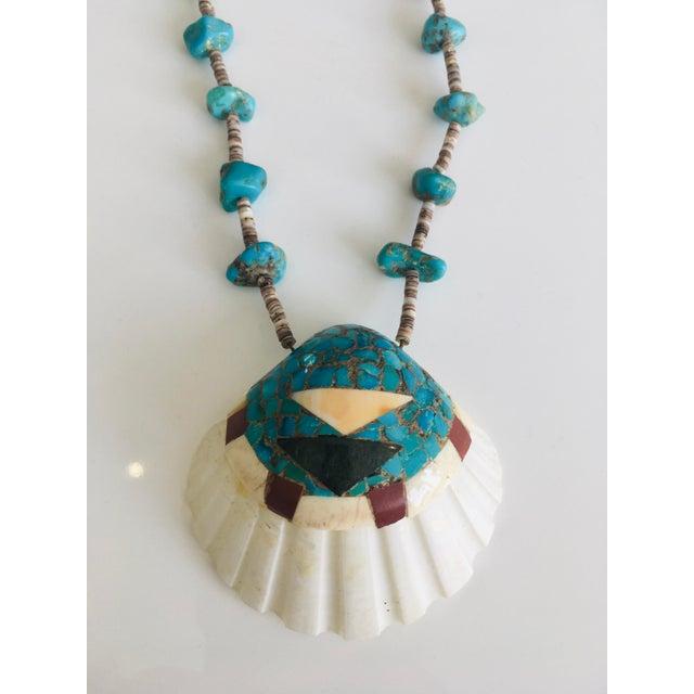 Vintage Native American Santo Domingo Shell Necklace
