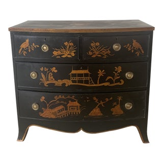 1800s Chinoiserie Bowfront Chest For Sale