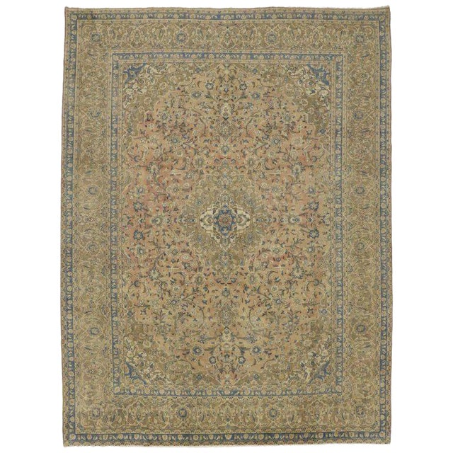 20th Century Persian Kashan Rug - 9′8″ × 12′10″ For Sale