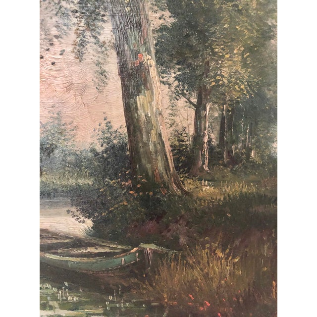 Early 20th Century European Village Scene Landscape Oil Painting For Sale - Image 4 of 7