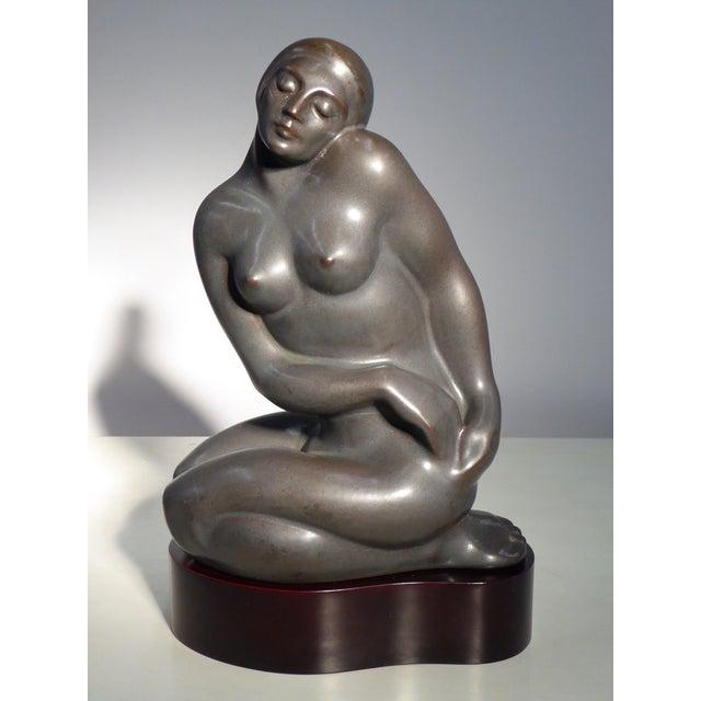 1982 Lladró Limited Edition Gres Porcelain Sculpture AMANECER by Alfonso Pérez For Sale - Image 12 of 13