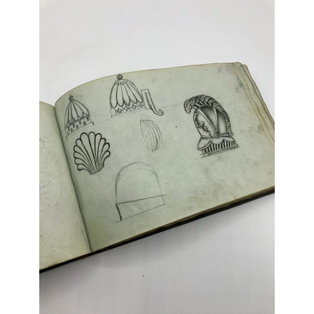 Antique French Personal Leather Journal For Sale - Image 12 of 13