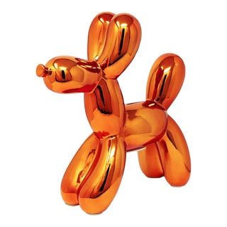"Interior Illusions Plus Copper Balloon Dog Bank - 12"" Tall For Sale"