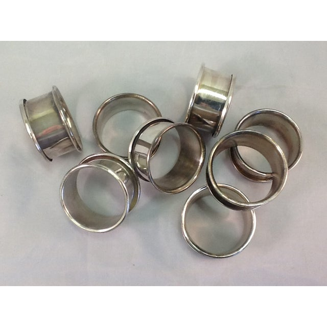 Vintage Silver Plate Napkin Rings - Set of 8 - Image 4 of 4
