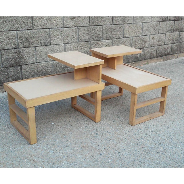 Paul Laszlo Style Blonde End Tables-A Pair For Sale - Image 12 of 12