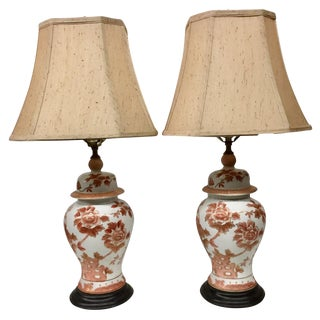 1950s Hollywood Regency Ginger Jar Table Lamps - a Pair For Sale