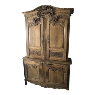 1850s Pine French Vassiliere/Linen Press For Sale